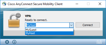 Setting Multiple profile in Cisco AnyConnect – Windows